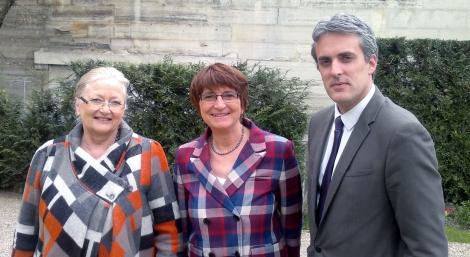 La présidente du GE Viticulture et les 2 VP Fanny Dombre-Coste et Sébastien Denaja, députés de l'Hérault
