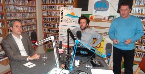 Dans les studios de RPH à Montagnac avec Adrian Delgrange et Didier Denestebe