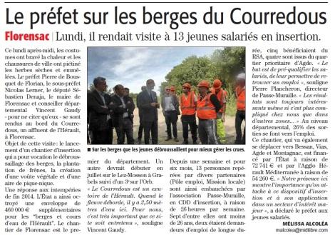 Le Préfet sur les berges du Courredous - Florensac - ML 12.05.2015.