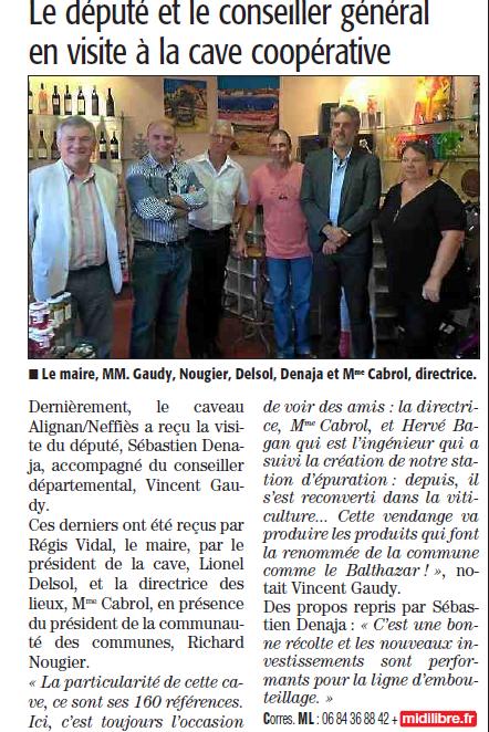 Denaja Gaudy cave Alignan du Vent