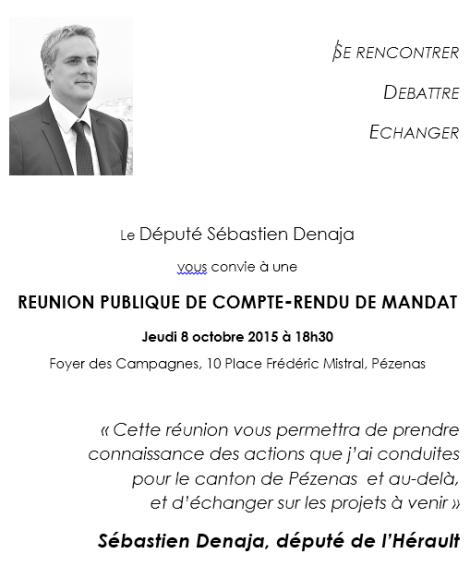 Réunion publique Pézenas - jeudi 8 octobre 2015