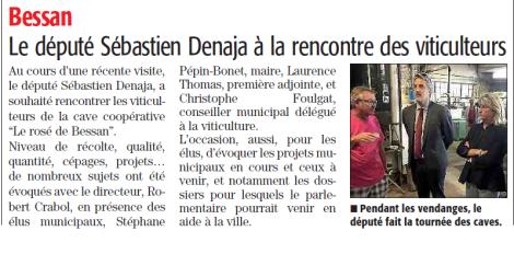 Séebastien Denaja cave coopé Bessan
