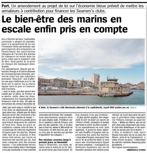 LA MARSEILLAISE 18 02 2016 region port bien être marins seamen's Sebastien (1)