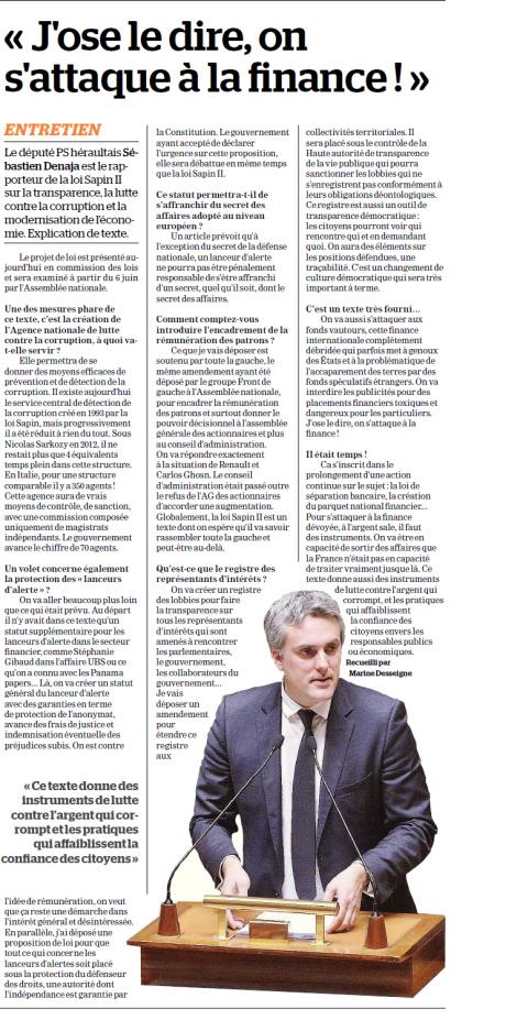 La Marseillaise - J'ose le Dire on s'attaque à la Finance - 25 mai 2016